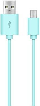 Дата-кабель Nobby DT-005 USB-microUSB 1м blue кабель lightning 1м a data круглый amfial 100cmk crg