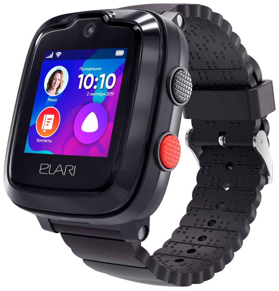 Детские часы Elari KidPhone 4G с голосовым помощником Black фото