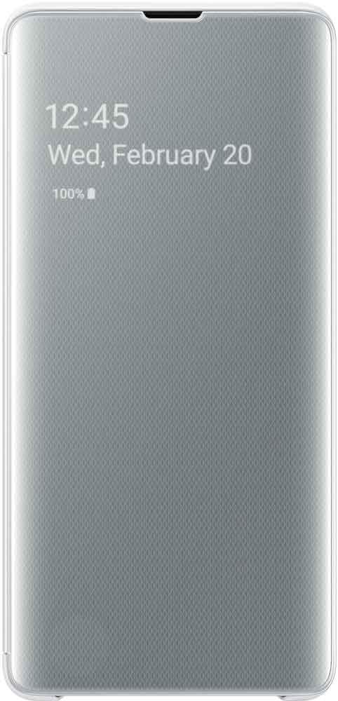 Чехол-книжка Samsung Galaxy S10 Plus EF-ZG975C White чехол накладка samsung ef rg973c для samsung galaxy s10