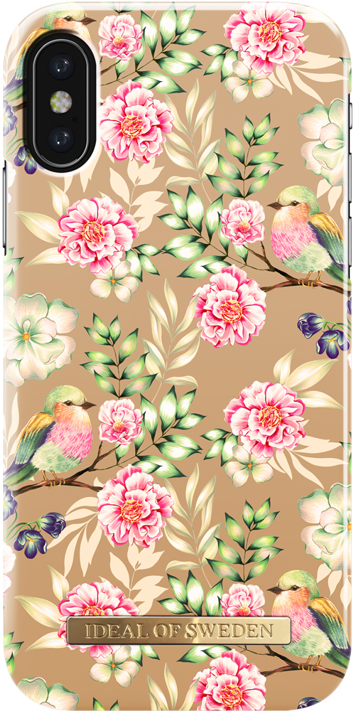 Клип-кейс Ideal iPhone X champagne birds