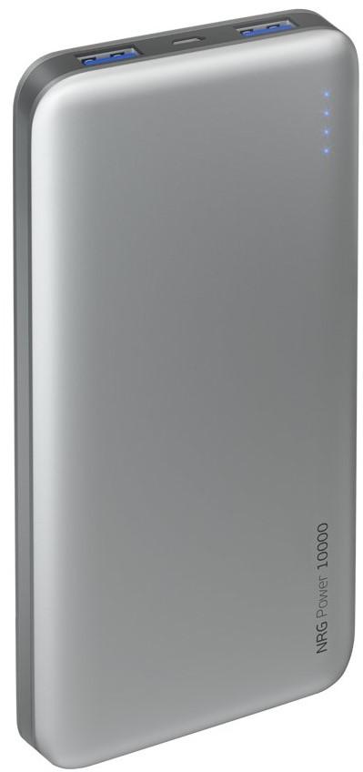 Внешний аккумулятор Deppa NRG Power 10000 mAh 2.1A 2USB графит аккумулятор deppa nrg slim 5000 mah white 33508