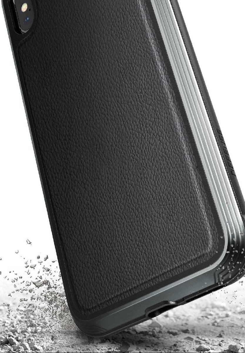 Клип-кейс X-Doria iPhone XS противоударный кожа Black
