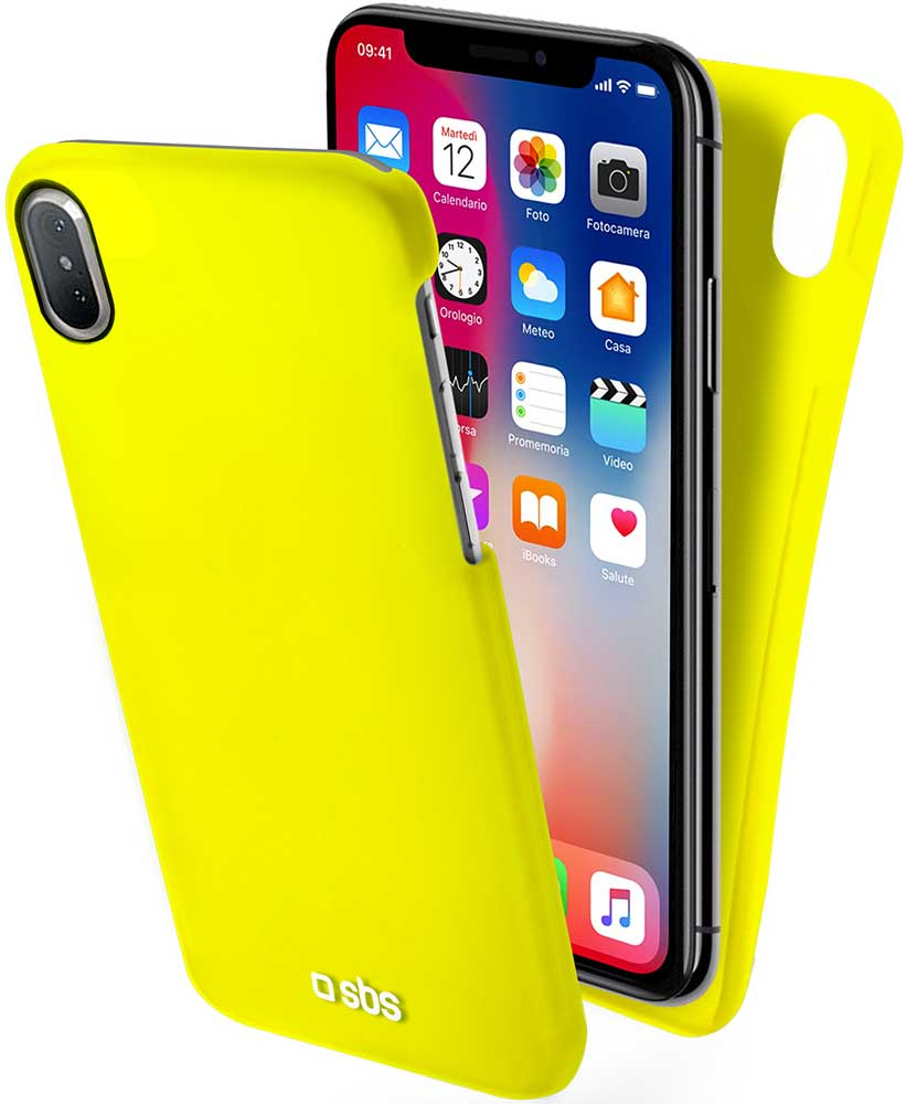 Клип-кейс SBS Apple iPhone X тонкий пластик Yellow цена и фото