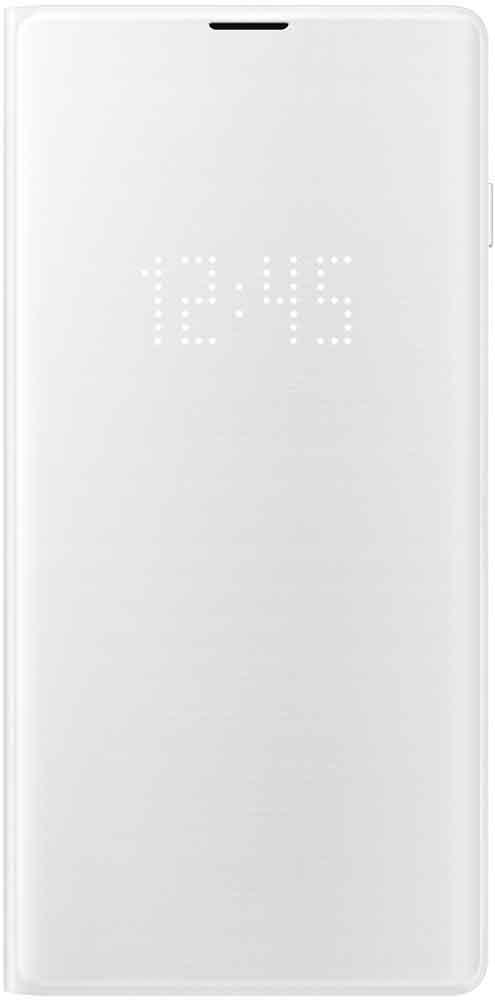 Чехол-книжка Samsung Galaxy S10 EF-NG973P LED View White аксессуар чехол samsung galaxy note 8 led view cover gold ef nn950pfegru