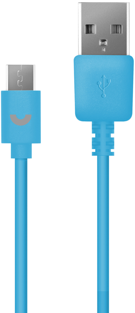 Дата-кабель PrimeLine USB-microUSB 1,2м Blue