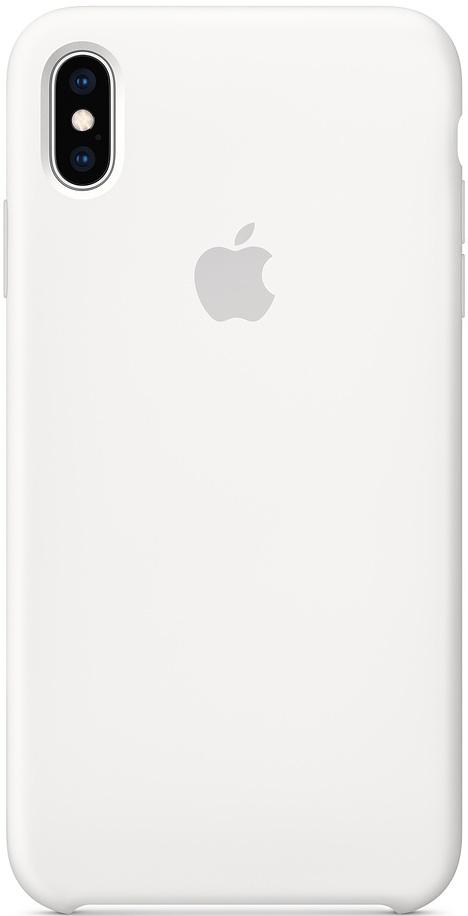 Клип-кейс Apple iPhone XS Max силиконовый MRWF2ZM/A White фото
