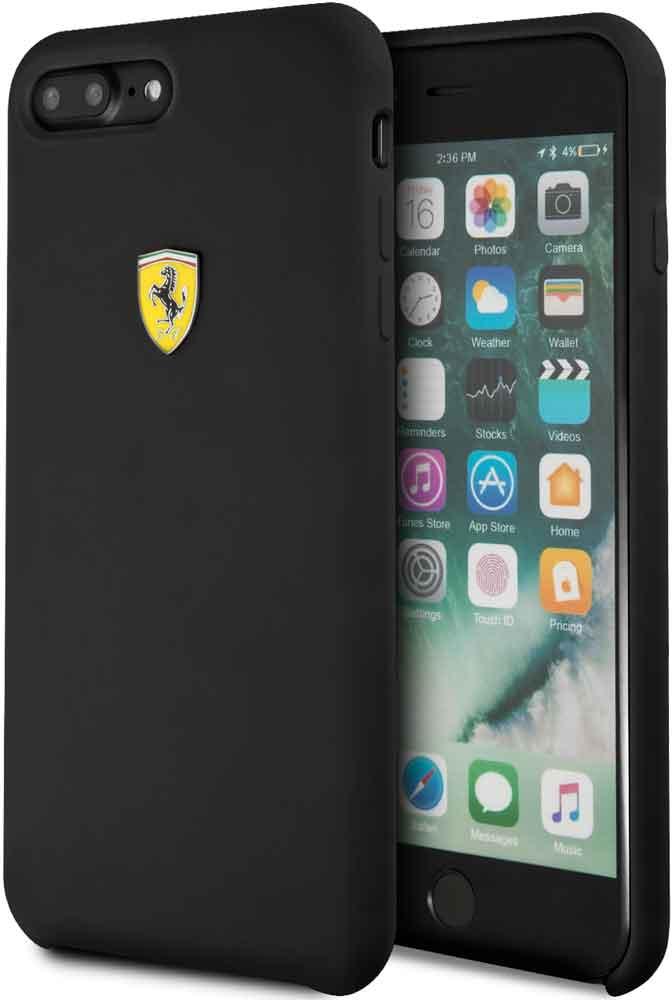 цена на Клип-кейс Ferrari для iPhone 7/8 Plus силикон Black