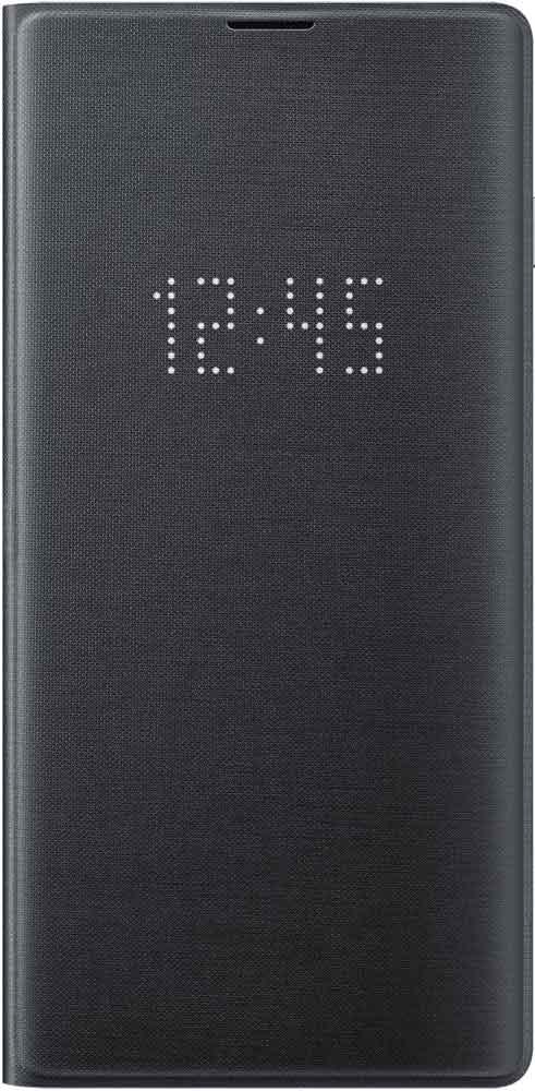 Чехол-книжка Samsung Galaxy S10 EF-NG973P LED View Black аксессуар чехол samsung galaxy note 8 led view cover gold ef nn950pfegru
