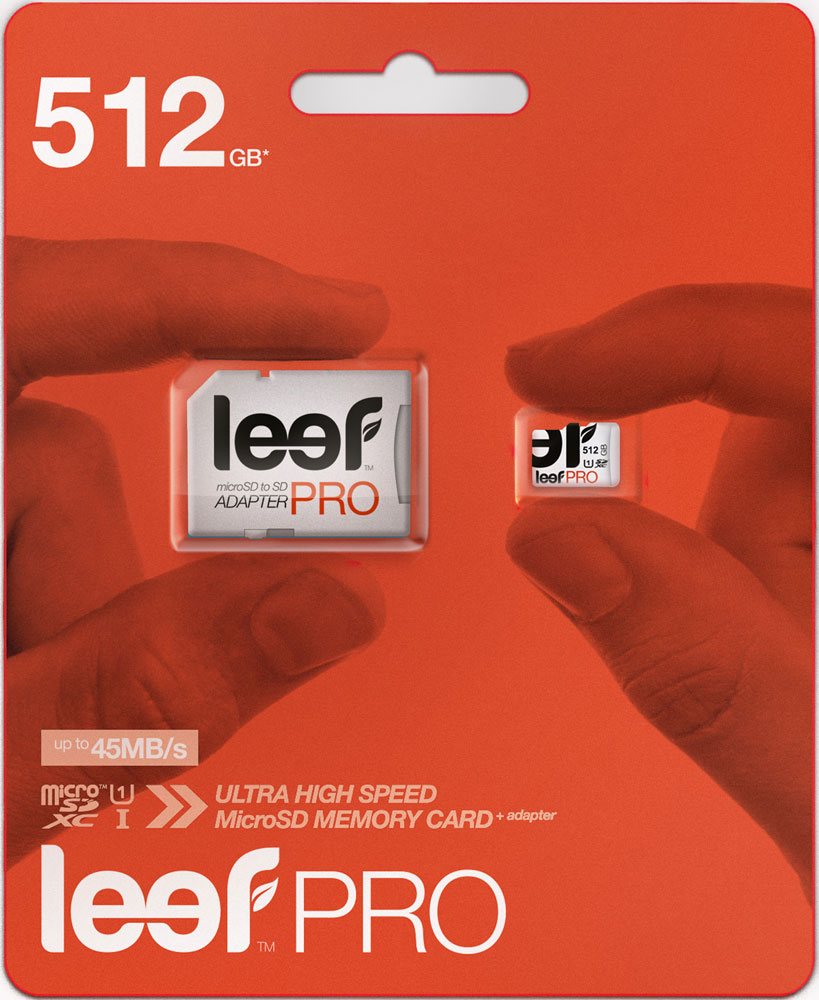 лучшая цена Карта памяти MicroSDXC Leef PRO 512GB Class 10 UHS-I с адаптером