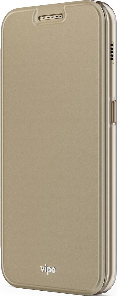 Чехол-книжка Vipe для Samsung Galaxy A3 2017 Gold аксессуар чехол для samsung galaxy a3 2017 x level guardian gold 2828 025