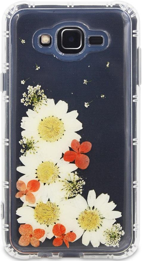 Клип-кейс DYP, Samsung Galaxy J7 Neo принт цветы, клип-кейс, 0313-6346  - купить со скидкой