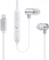 фото Наушники Deppa для Apple Stereo Lightning 8-pin MFI Silver White