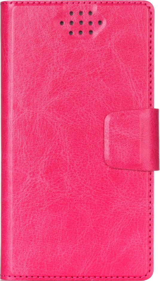 """Чехол-книжка Vili универсальный размер M 4,3-5,5"""" Pink"""