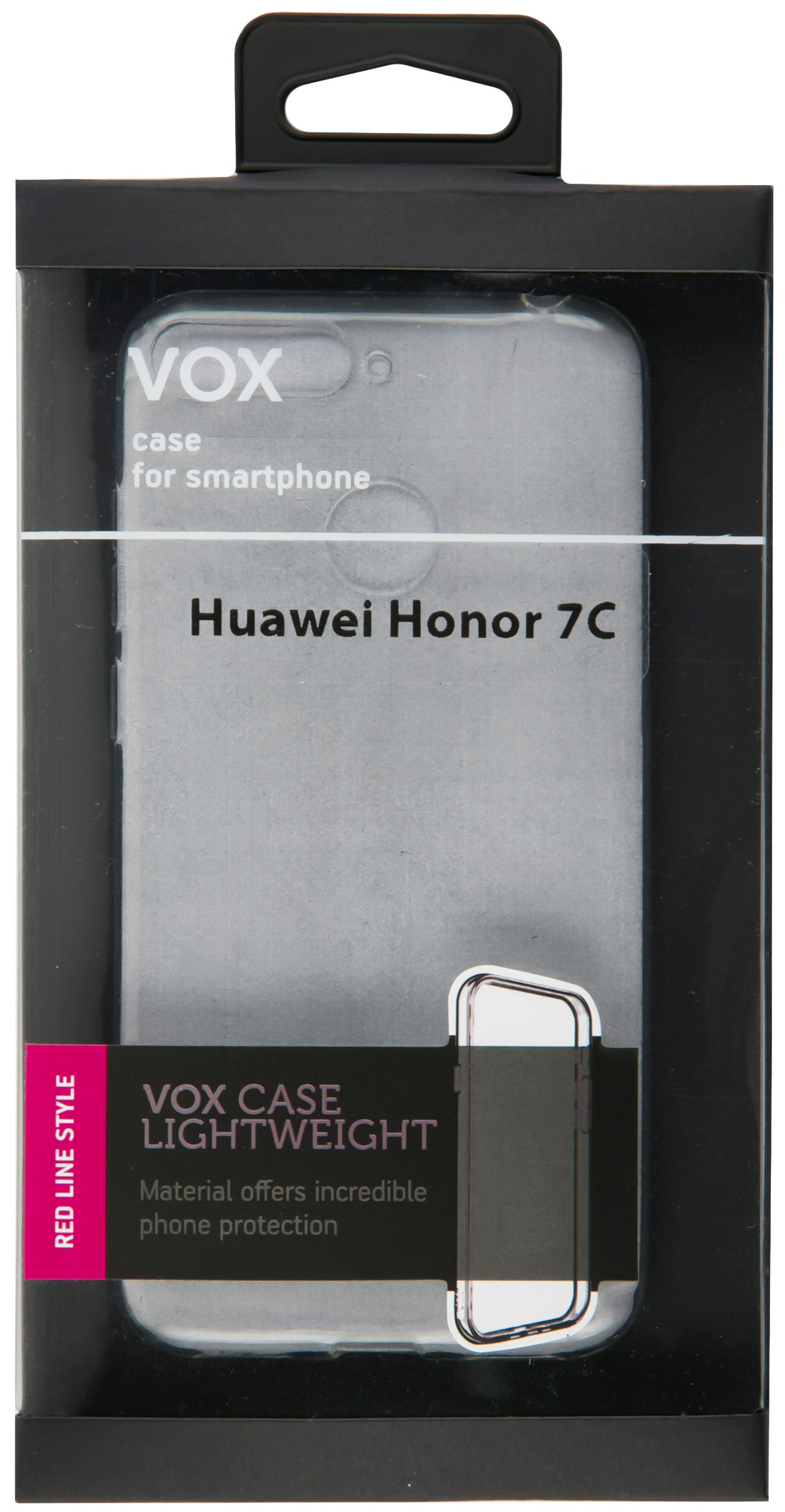 Клип-кейс Vox для Honor 7C прозрачный смартфон honor 7c 32gb gold