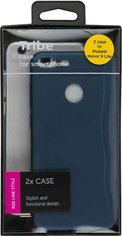 Набор чехлов Tribe Honor 9 Lite силикон+пластик прозрачный/синий смартфон honor 9 lite 32 гб синий lld l31 51092csh