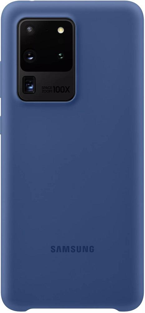 Клип-кейс Samsung Galaxy S20 Ultra силиконовый Blue (EF-PG988TNEGRU) фото