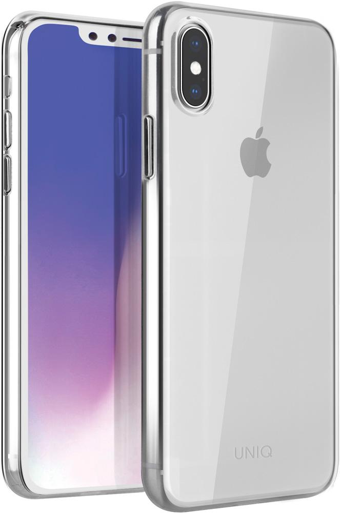 Клип-кейс Uniq Apple iPhone XS тонкий пластик прозрачный клип кейс guess saffiano ring для apple iphone xs черный