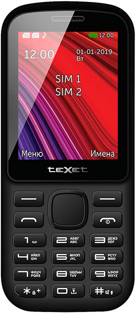 Мобильный телефон teXet TM-208 Dual sim Black/Red
