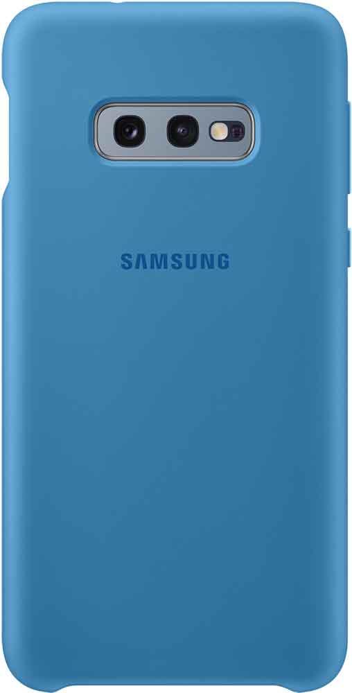 Клип-кейс Samsung Galaxy S10e TPU EF-PG970T Blue клип кейс samsung dual layer ef pj330 для galaxy j3 2017 голубой