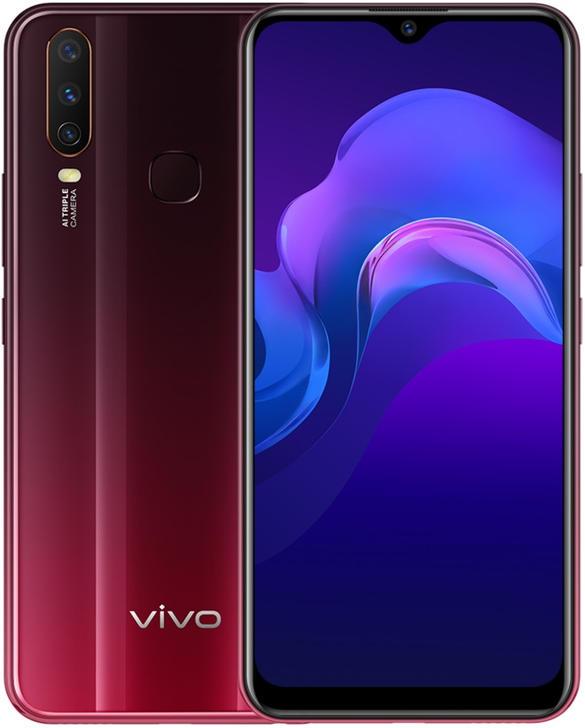 Смартфон Vivo Y12 3/64Gb Burgundy Red