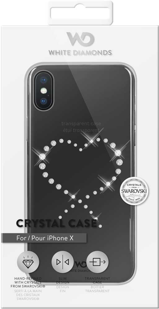 Клип-кейс White Diamonds Apple iPhone X прозрачный клип кейс inoi prism для apple iphone xr серебристый
