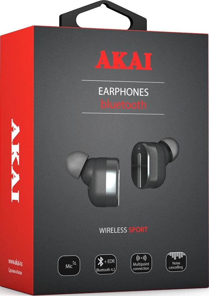 Беспроводные наушники с микрофоном Akai TWS HD-221 Black цены