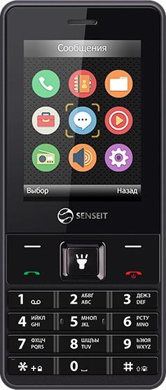 Мобильный телефон Senseit L208 Dual sim Black смартфон senseit a250 black