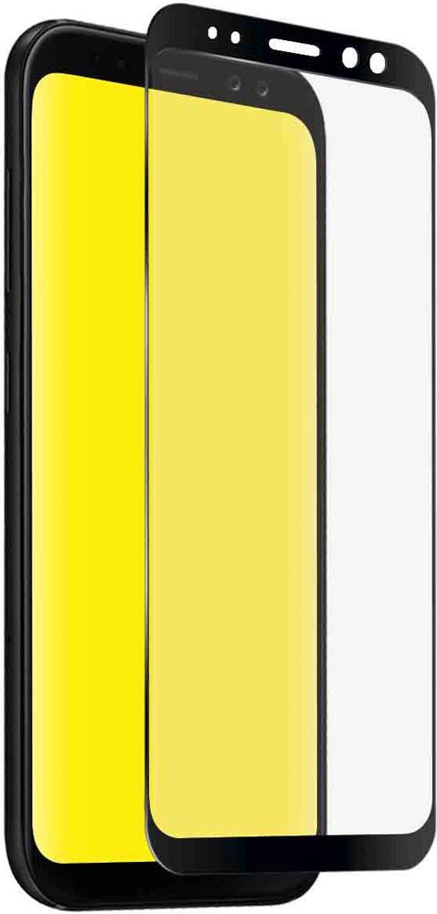 Стекло защитное SBS Samsung Galaxy A8 2.5D черная рамка стекло защитное rockmax iphone xr 3d черная рамка