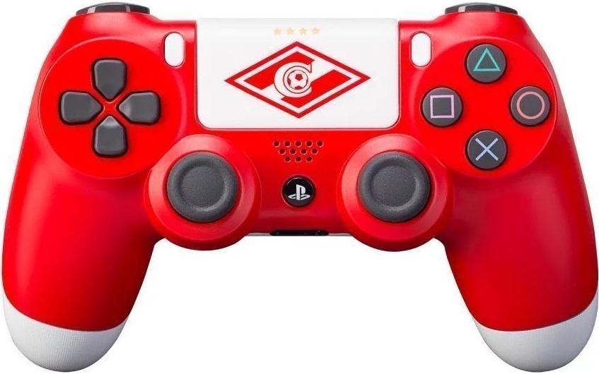 Кастомизированный беспроводной контроллер Rainbo DualShock 4 Спартак красно-белый