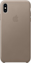 фото Клип-Кейс Apple iPhone XS Max кожаный MRWR2ZM/A Beige