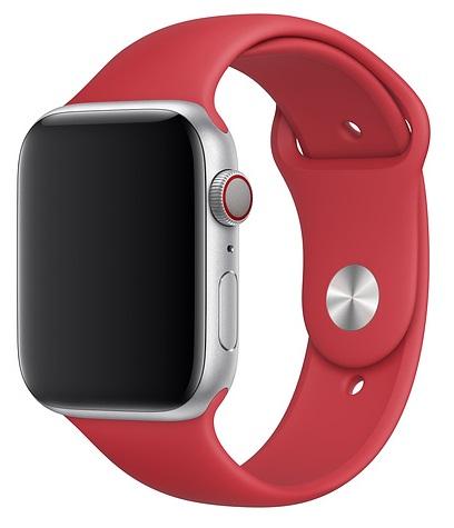 цены Ремешок для умных часов Everstone ES-AWBS-102 Apple Watch 38/40мм силиконовый Red