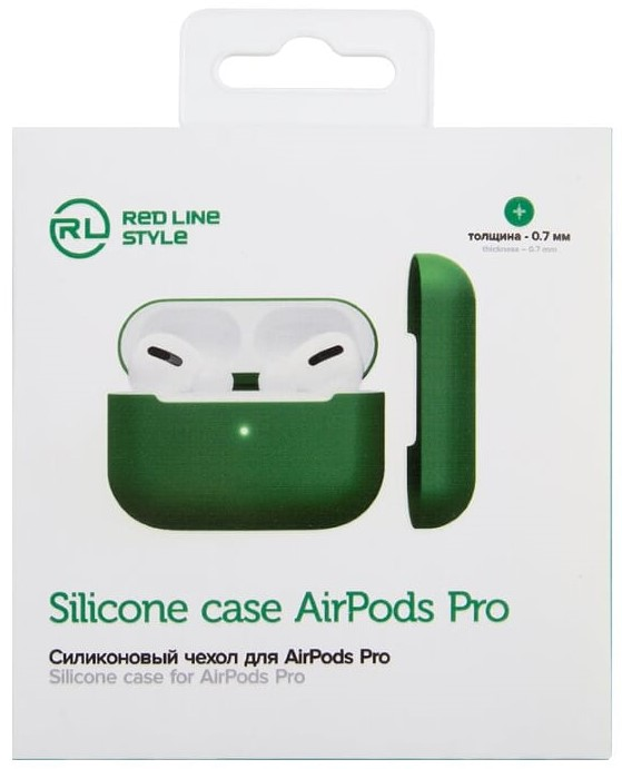 Фото - Чехол для наушников RedLine для Airpods PRO премиум зеленый чехол для наушников tiptop siliconecase2036 4605170002036 красный