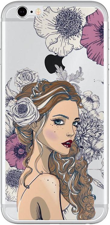 Комплект защитных стекол Borasco 18723 для iPhone 6/6S front прозрачное/back принт весна