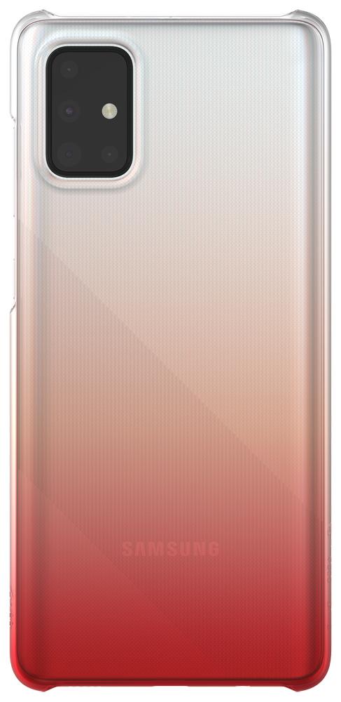 Клип-кейс WITS Samsung Galaxy A71 Gradation прозрачный Red (GP-FPA715WSBRR) фото
