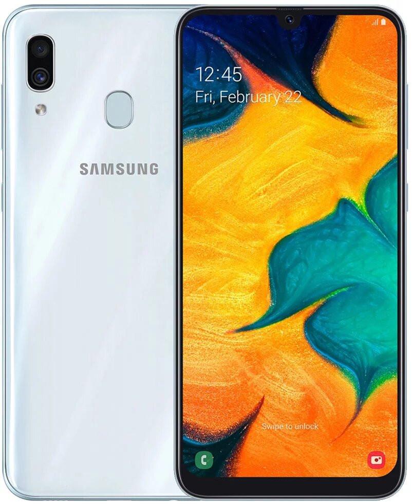 Смартфон Samsung A305 Galaxy A30 4/64Gb White
