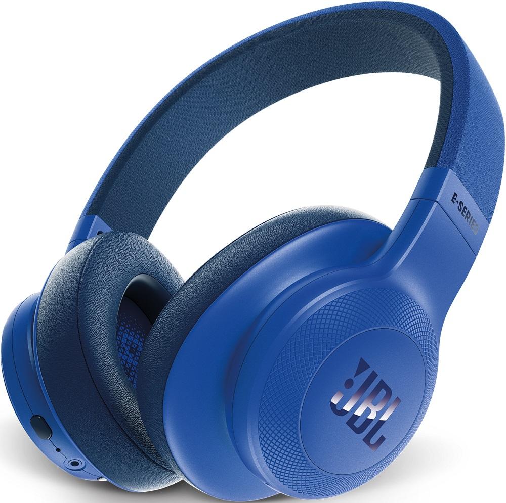 Беспроводные наушники JBL Bluetooth E55BT накладные blue гарнитура jbl jble45btwht накладные белый беспроводные bluetooth