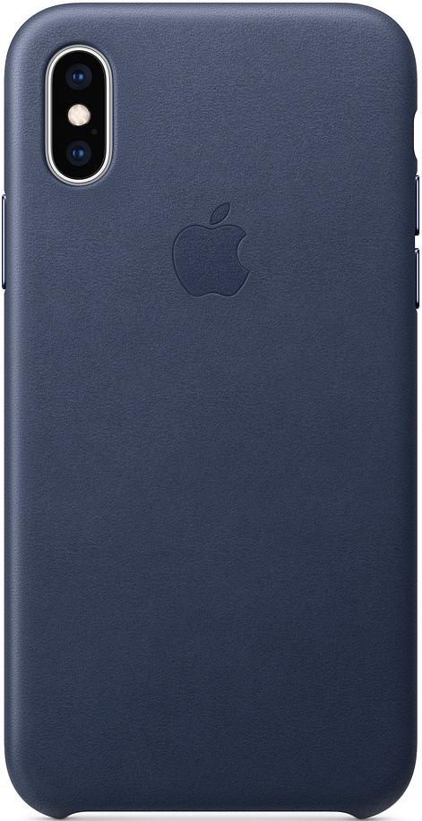 Клип-кейс Apple iPhone XS кожаный MRWN2ZM/A DeepBlue