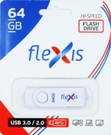 фото USB Flash FLEXIS RW-101 64GB USB3.0 White