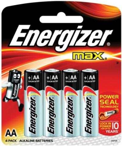 Батарея Energizer MAX LR6 Е91 AA 4 шт блистер элементы питания energizer base aa 2 шт