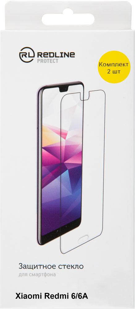 цена на Стекло защитное RedLine Xiaomi Redmi 6A прозрачное 2 шт