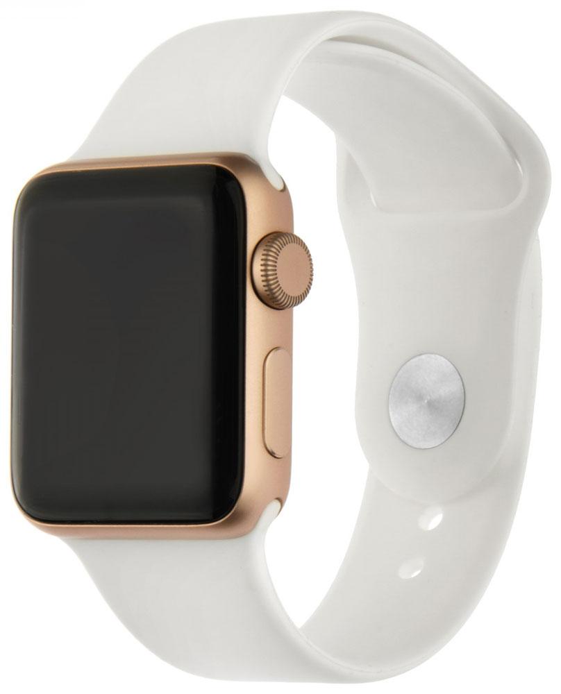 Ремешок для умных часов InterStep Sport Apple Watch 38/40мм силиконовый White стоимость