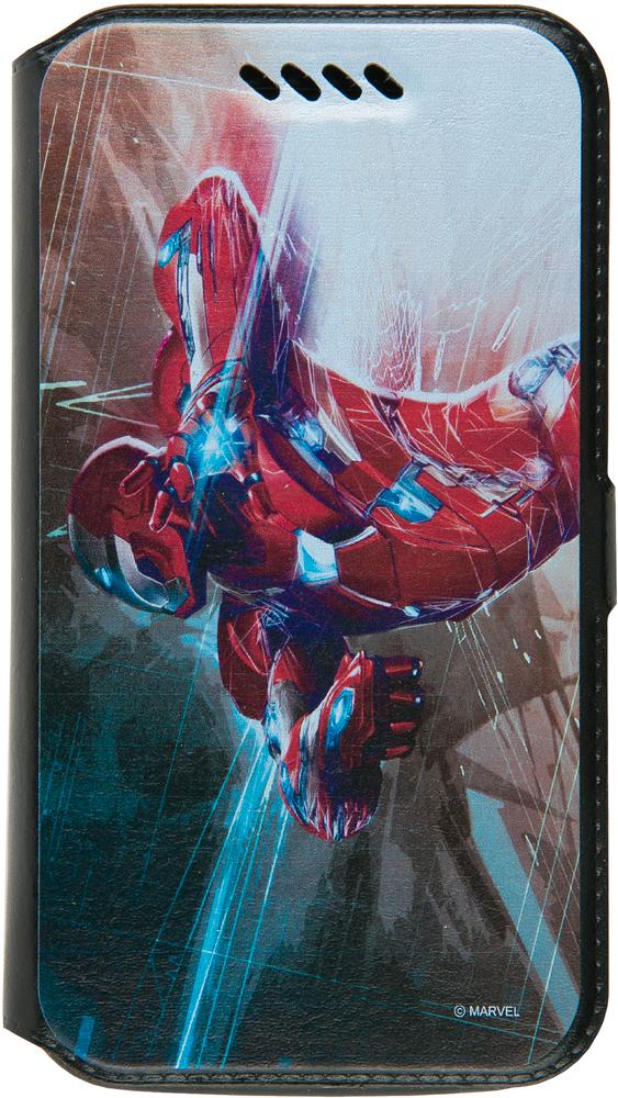 """Чехол-книжка Disney универсальный до 5"""" принт Marvel №17"""