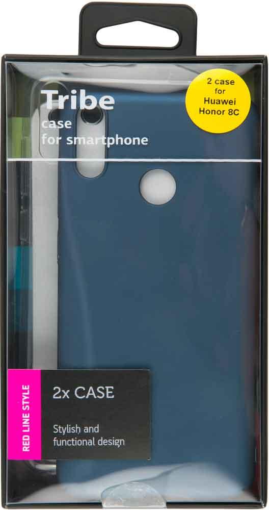 Набор чехлов Tribe Honor 8C силикон+пластик прозрачный и синий набор чехлов tribe honor 8c силикон пластик прозрачный и красный