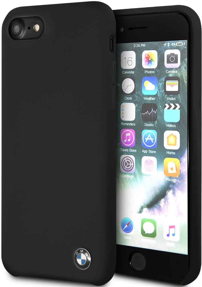 Клип-кейс BMW iPhone 7/8 силикон Black клип кейс bmw iphone xs max силикон black