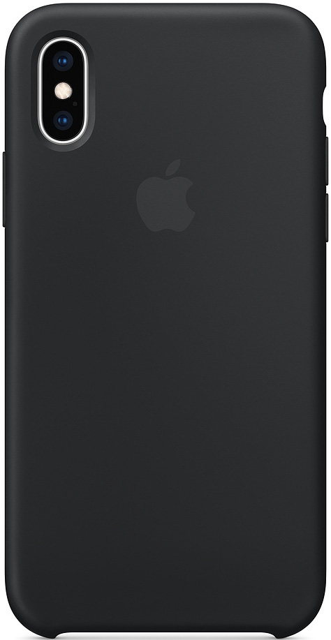 Клип-кейс Apple iPhone XS силиконовый MRW72ZM/A Black аксессуар чехол для apple iphone xs zibelino soft matte black zsm apl xs blk
