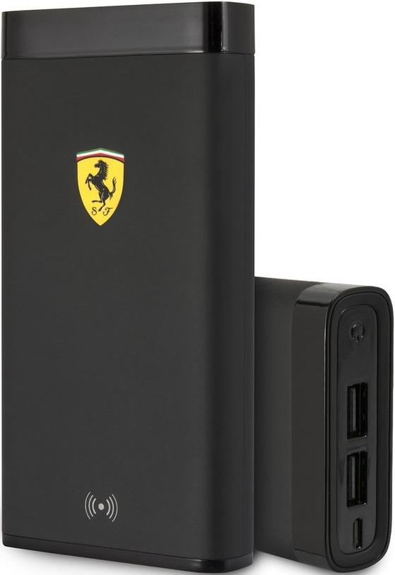 Внешний аккумулятор Ferrari 10000 mAh с функцией беспроводной зарядки Black аккумулятор ttec powerslim 10000 mah black 2bb133s