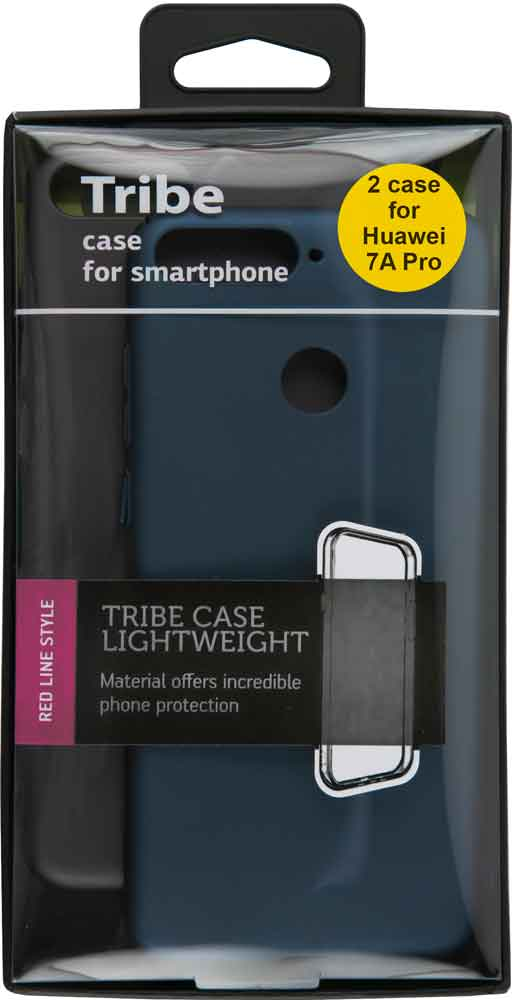 Набор чехлов Tribe Honor 7A Pro пластик+пластик черный/синий
