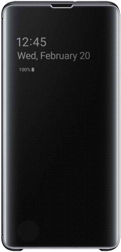 Чехол-книжка Samsung Galaxy S10 Plus EF-ZG975C Black чехол накладка samsung ef rg973c для samsung galaxy s10