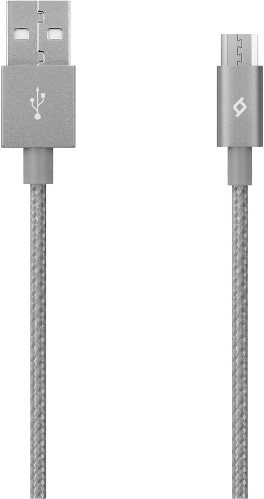 Дата-кабель Ttec USB-microUSB 1,2м Space Grey гарнитура rock muma stereo rauo0512 space grey
