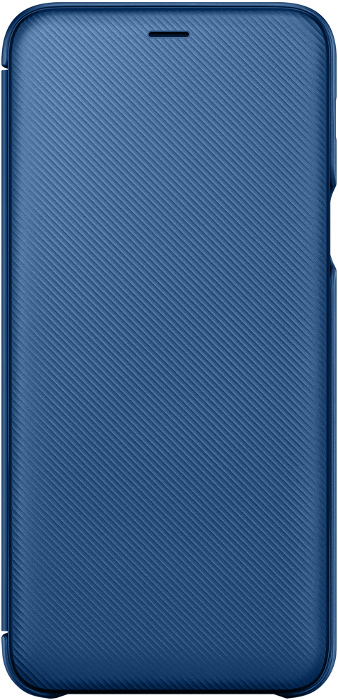 Чехол-книжка Samsung Galaxy A6 Plus Wallet Cover Blue (EF-WA605CLEGRU) аксессуар чехол книжка для samsung galaxy a6 2018 wallet cover purple ef wa600cvegru